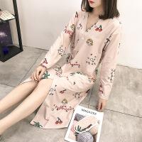 和服睡衣女冬秋季长袖睡裙浴衣日式系带睡袍女春秋性感中长款浴袍