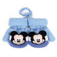 迪士尼儿童手套冬男孩女童小孩保暖可爱加绒加厚幼儿宝宝手套3岁