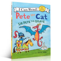 进口英文原版正版 Pete the Cat: Sir Pete the Brave皮特猫系列平装绘本I can rea