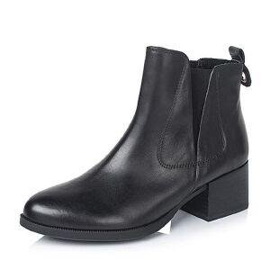 Teenmix/天美意专柜同款打蜡牛皮革女皮靴6UY41DD5