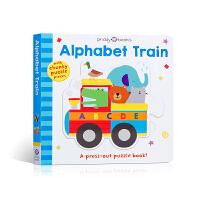 【全店300减100】Puzzle and Play 英文原版进口 拼图拼拼书 Roger Priddy 字母火车 Al