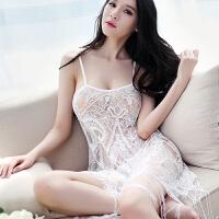 2018新款性感睡衣�O度�T惑女式吊�хU空透明薄�冬季�杉�套�b睡裙 均�a