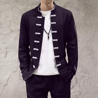 春季男装夹克男士立领盘扣外套潮男中国风复古唐装汉服男上衣