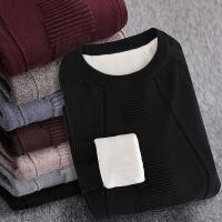 加绒加厚高领男士毛衣针织衫韩版线衫外套线衣长袖毛衫冬季修身潮