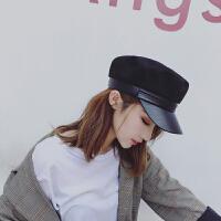 新款海军帽 女士鸭舌帽学生百搭秋天帽子军帽男