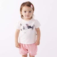 [2件3折价:86.1]戴维贝拉女童夏装新款套装 宝宝印花两件套DB7679
