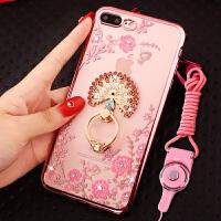 苹果7plus手机壳女iphone7plus保护套8p挂绳5.5寸水晶钻指环