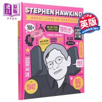 【中商原版】Great Lives in Graphics: Stephen Hawking 大人物漫游记:霍金 儿童历