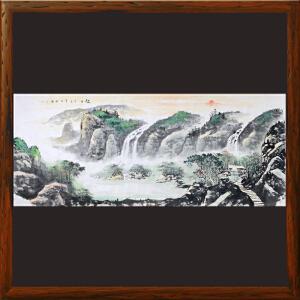 2.4米山水画《旭日》实力画家松涛 边秀后R2676