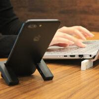 手机支架磁力便携随身移动苹果iPhone X手机支架创意设计