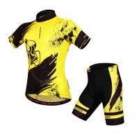 骑行服套装男女 夏季透气速干吸湿排汗短袖单车服 硅胶垫短裤
