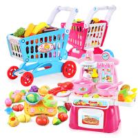 儿童过家家宝宝迷你厨房套装超市推车3-6岁女孩玩具购物车