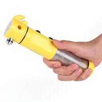 车载多功能安全锤手电筒6合1汽车安全锤 应急逃生锤工具破窗警示器手电报警器