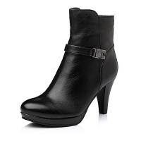 Bata/拔佳专柜同款牛皮时尚高跟女靴AUR66DD5