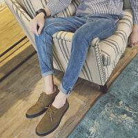 韩版潮流复古男士休闲牛仔裤青少年学生修身小脚裤春季男装长裤子
