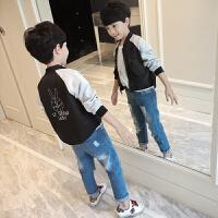童装男童外套春装2018新款韩版儿童春秋夹克上衣小男孩棒球服潮衣