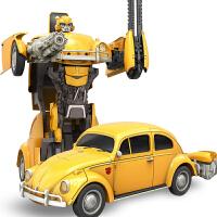 大模型男孩 遥控变形金刚5玩具大黄蜂擎天柱汽车机器人