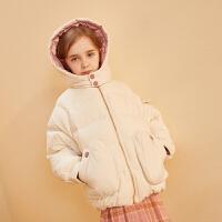 【2件3折:179】巴拉巴拉旗下巴帝巴帝女童棉衣2019年冬中大童可爱保暖加厚儿童棉服短