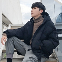 冬装新款棉衣男短款加厚面包服潮牌韩版冬季男士外套情侣冬装