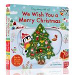 圣诞节快乐 英文原版绘本 sing along with me We Wish You a Merry Christm