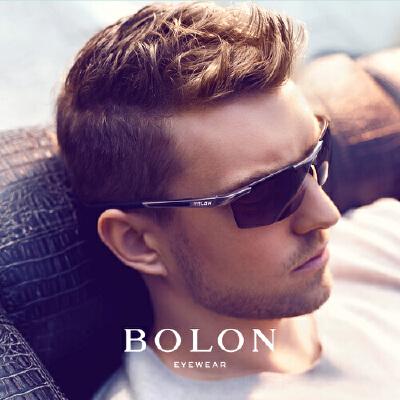 BOLON暴龙复古太阳镜男方形半框潮流墨镜开车个性潮流眼镜BL2282匠心护目 品质暴龙