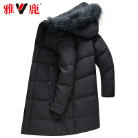 雅鹿羽绒服男中长款2019新款男式款韩版加厚男士羽绒冬季外套潮D
