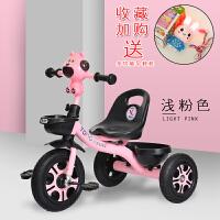 三轮车1儿童3脚踏车4简易带斗2骑车5周岁小巧轻便6大号小童自行车 浅粉色 顶配钛空轮带音乐