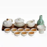 德化白瓷家用茶具陶瓷整套装简易品茶茶壶盖碗创意工夫酒具喝茶器