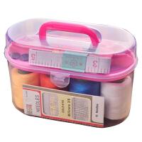 针线盒户外旅行便携缝补工具大线卷收纳盒家用针线缝纫工具10件套 均码