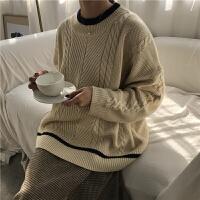 冬季韩版宽松长袖打底针织衫上衣复古chic百搭套头毛衣外套女学生