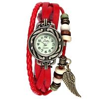 石英编织时装复古女表皮手链表学生个性时尚潮流手表