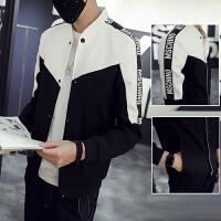 外套男春秋韩版潮流修身帅气棒球服男士秋装单排扣夹克男薄款外衣