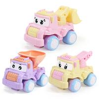 儿童玩具车男孩0-1-2-3-4岁回力吊机车小汽车宝宝挖机惯性迷你