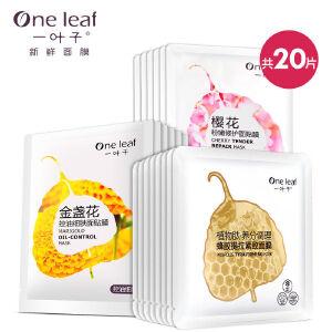 一叶子面膜鲜嫩滋养细肤面膜礼盒20片装补水保湿套组面膜贴女护肤品