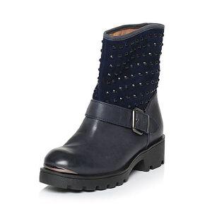 Teenmix/天美意专柜同款打蜡牛皮/羊皮女靴6WM65DZ5
