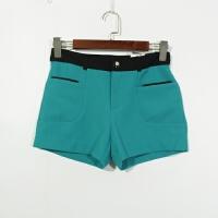 P07080女装精品春夏新款简约韩版纽扣高腰显瘦时尚撞色短裤