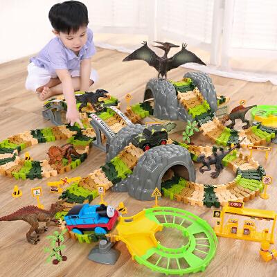 托马斯小火车恐龙套装轨道电动益智玩具拼装轨道男女孩礼物