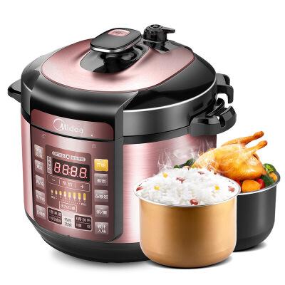 美的(Midea)50Simple101电压力锅双胆5L升家用电高压锅饭煲
