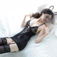 性感兔女郎马甲束身衣套装吊带黑丝袜兔子制服 均码