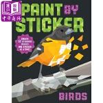 【中商原版】贴图画册:鸟 英文原版 Paint by Sticker: Birds