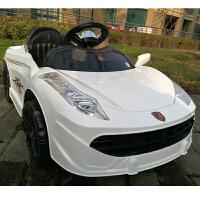 儿童电动车四轮跑车小孩可坐遥控汽车双驱电瓶摇摆童车宝宝玩具车的