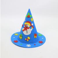 圣诞节帽子儿童手工DIY粘贴制作材料包节日装饰表演道具亲子活动