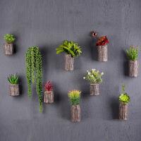 树脂多肉木桩植物壁挂 墙上装饰品立体创意墙面装饰墙壁挂饰壁饰