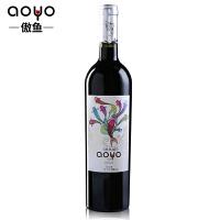 傲鱼AOYO智利原瓶进口红酒 美人鱼梅洛干红葡萄酒2016年750ml*1