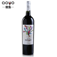 傲鱼AOYO智利原瓶进口红酒 美人鱼梅洛干红葡萄酒2018年750ml*1