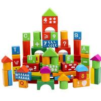 益龙灵(YILONGLING) 木质积木玩具 儿童早教益智数学木制桶装 3-6周岁