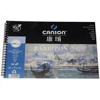 法国康颂canson巴比松水彩本 水彩纸 水彩写生簿200g 16K 19X27CM