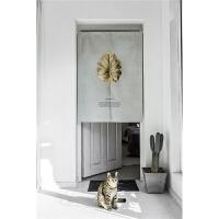 设计北欧简约植物门帘布艺隔断客厅卧室卫生间 85cm*120cm 附送杆子