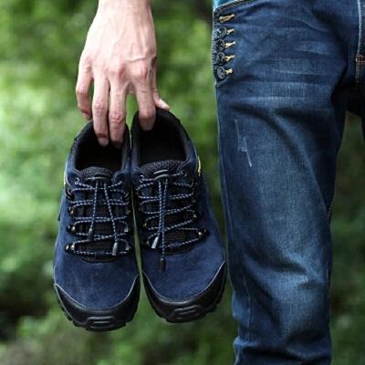 登山鞋男鞋防水防滑低帮户外徒步鞋男士休闲鞋