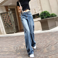 Lee Cooper 阔腿牛仔裤女新款垂宽松女裤子垂感直筒裤显瘦牛仔裤女